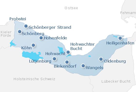 Karte Kieler Bucht
