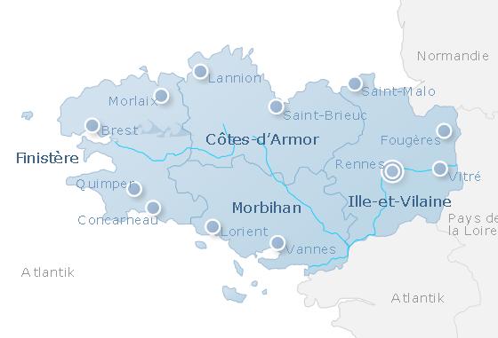 Karte Bretagne