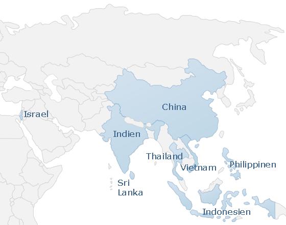 Karte Asia
