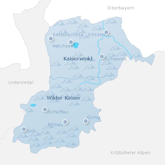 Karte Kaisergebirge