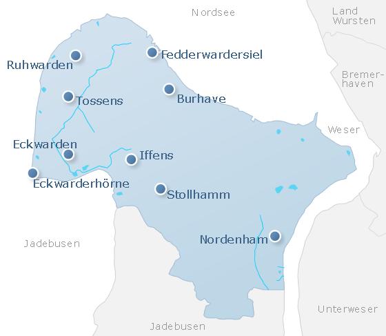 Karte Butjadingen