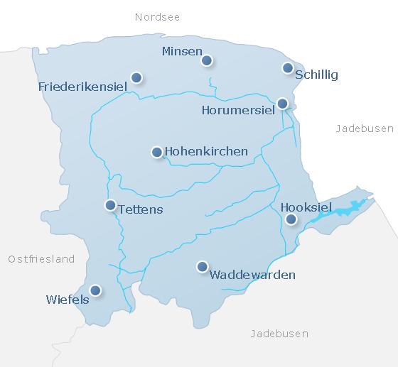 Karte Wangerland