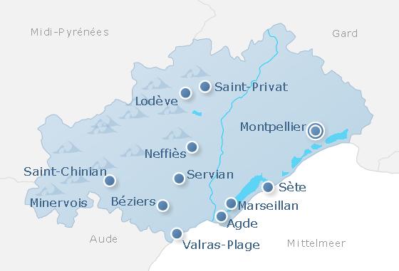Map Hérault