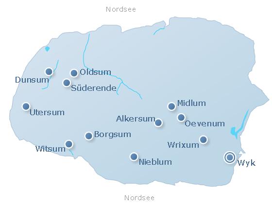 Karte Föhr