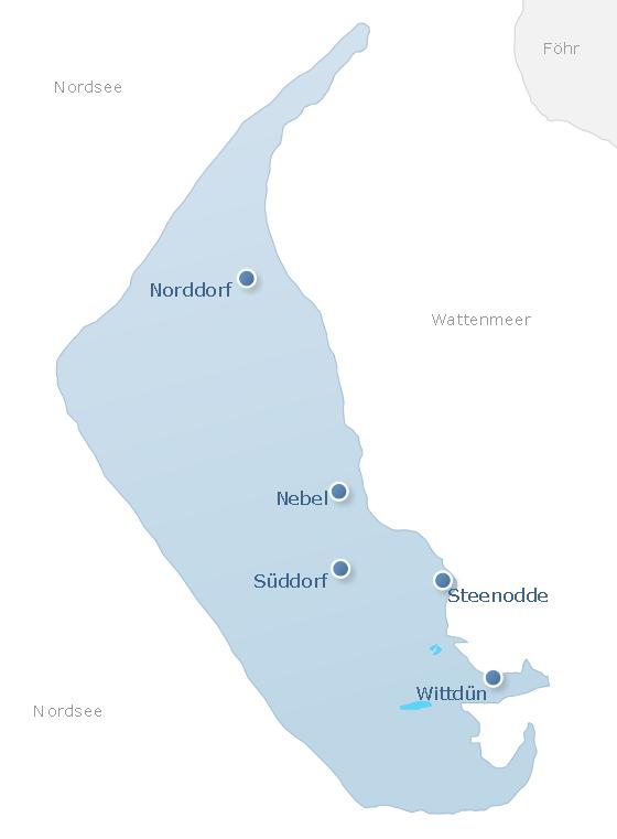 Karte Amrum