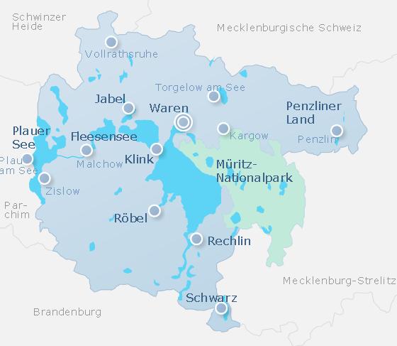 Karte Müritz