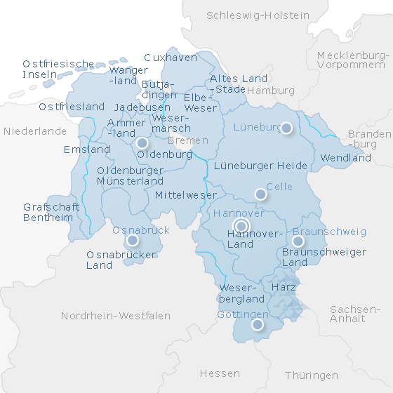 Map Lower Saxony