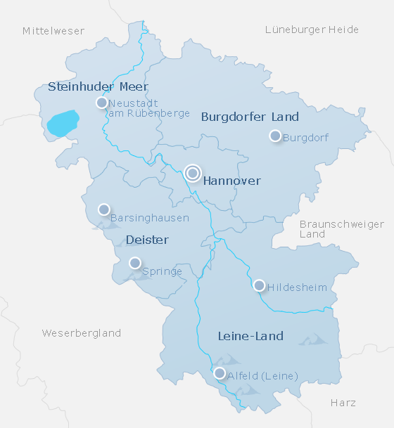 Karte Hannover Land