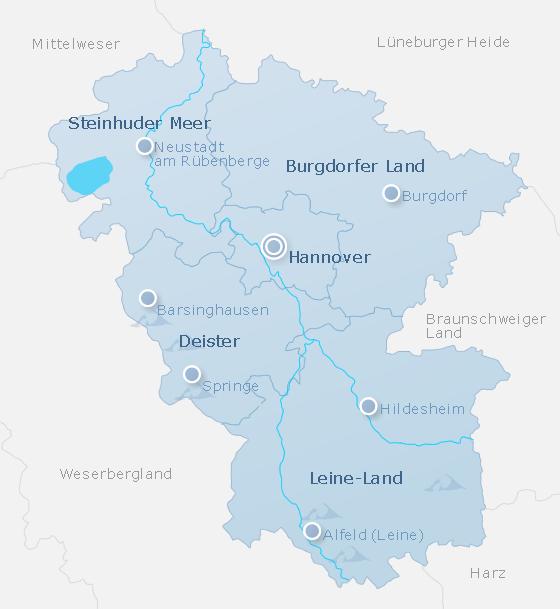 Map Hanover Land