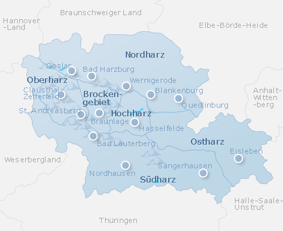 Map Harz