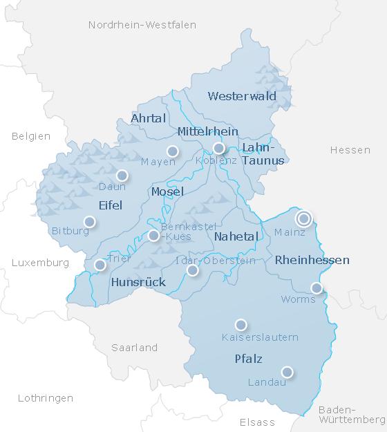 Karte Rhineland-Palatinate