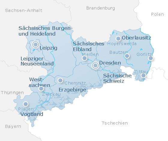 Map Saxony