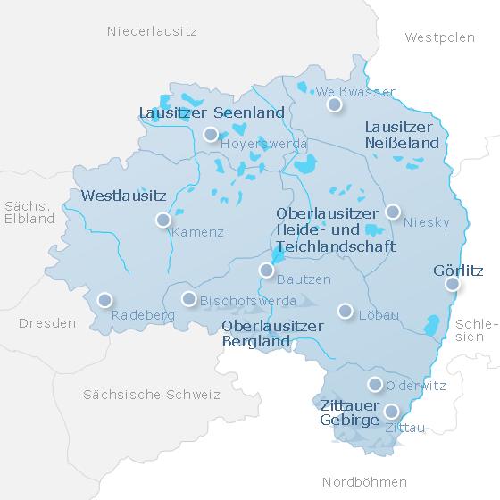 Map Upper Lusatia