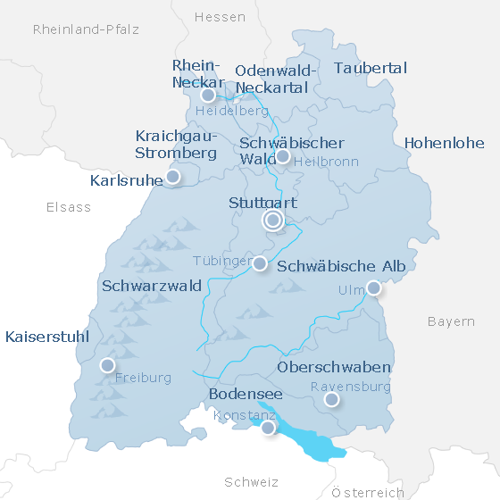 Map Baden-Wurttemberg