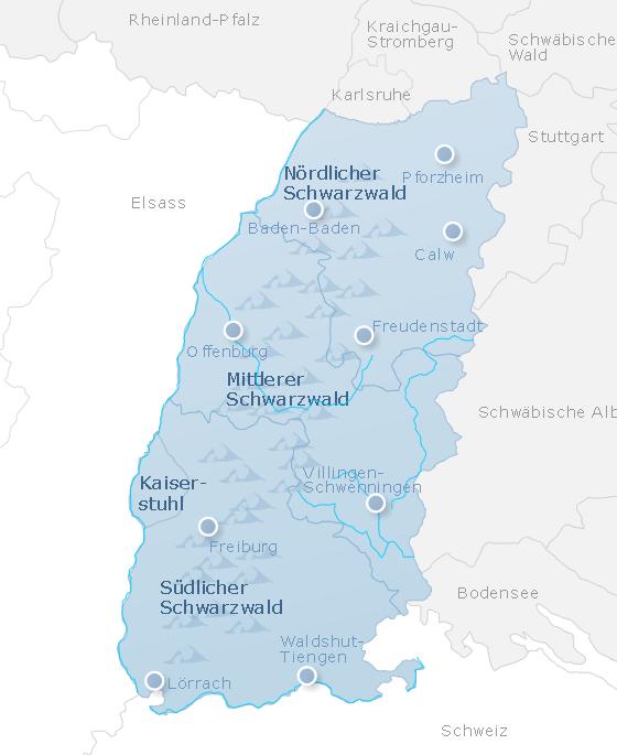 Karte Schwarzwald