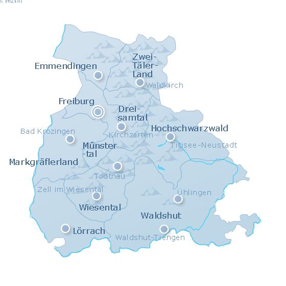 Karte Südschwarzwald