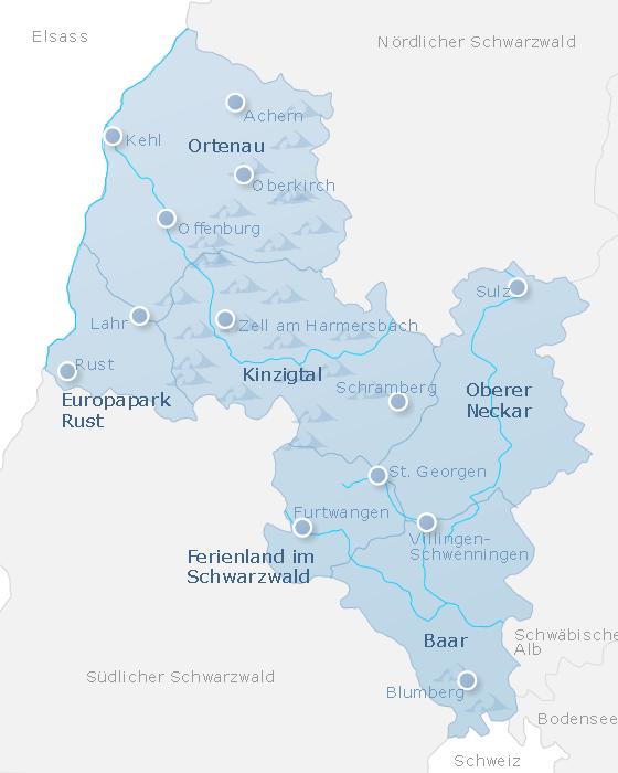 Karte Mittlerer Schwarzwald