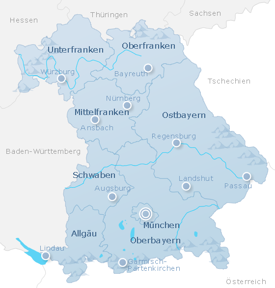 Map Bavaria
