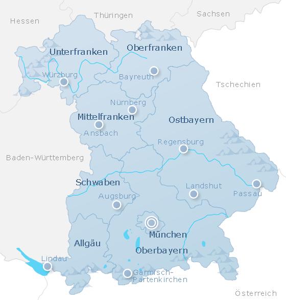 Karte Bayern