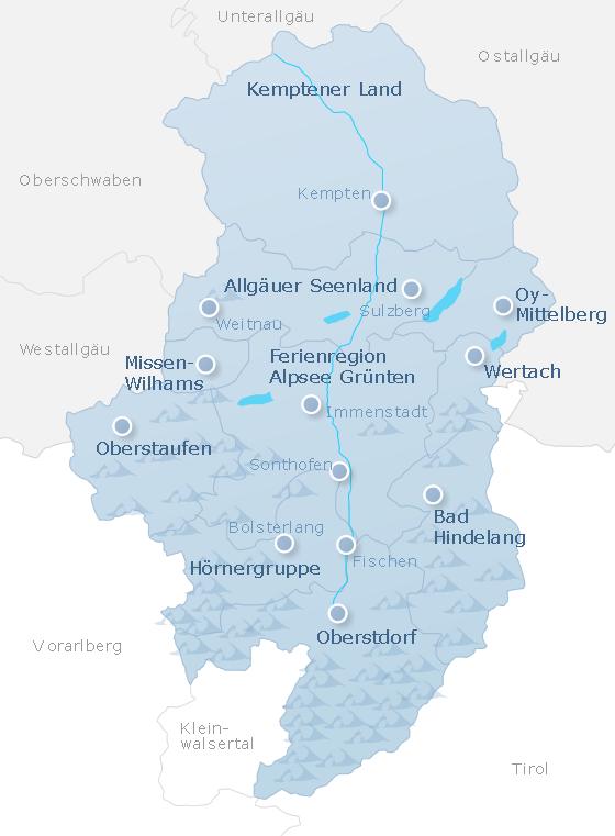 Karte Oberallgäu