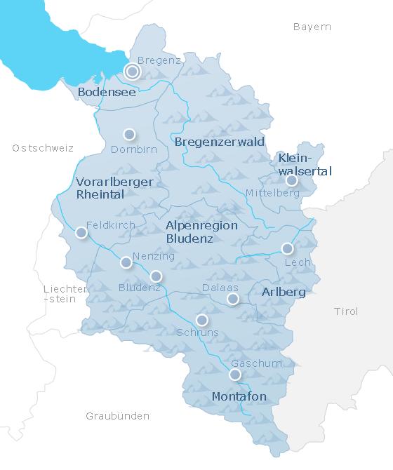 Karte Vorarlberg
