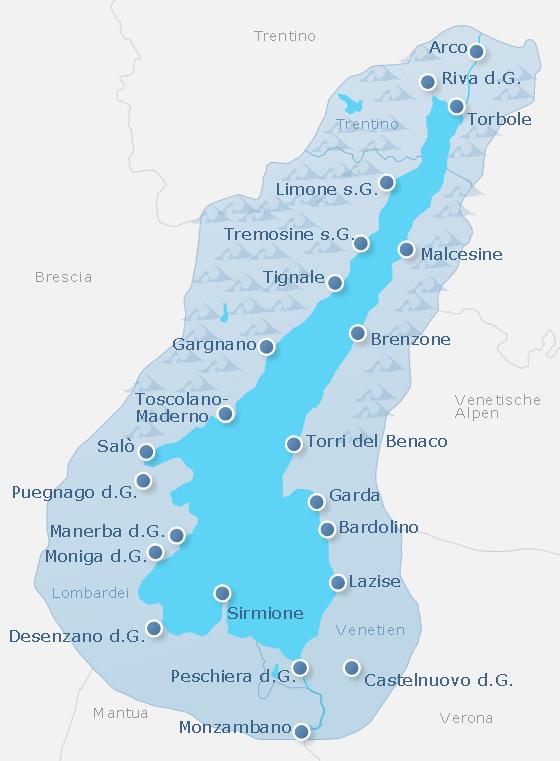 Karte Lake Garda