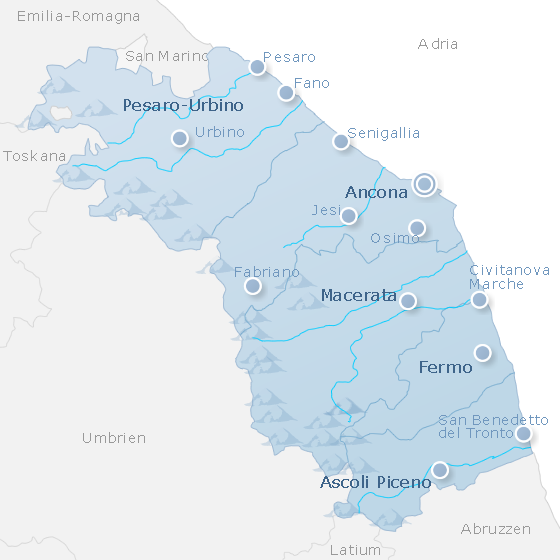 Map Marche