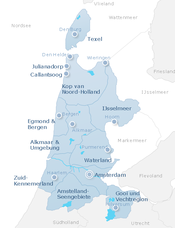 Map North Holland