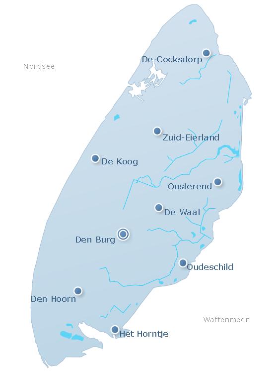 Karte Texel