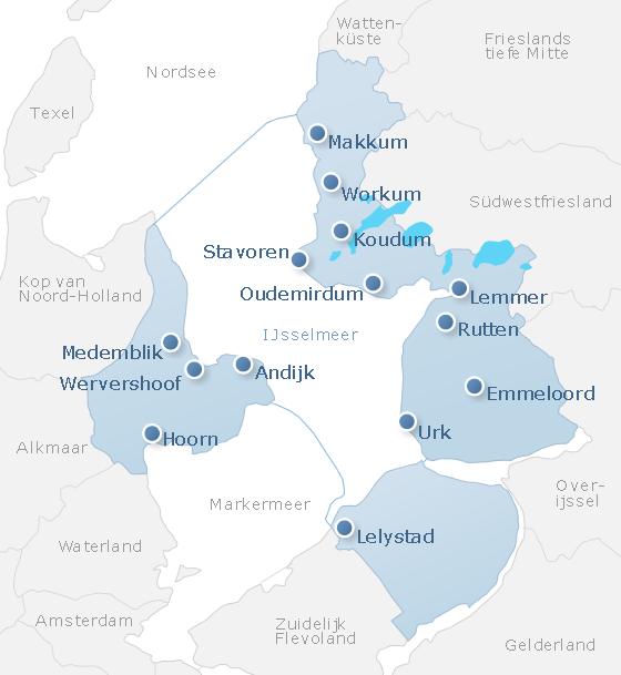 Niederlande Ijsselmeer Karte.Ferienwohnungen Ferienhäuser Am See Am Ijsselmeer Urlaub Am See