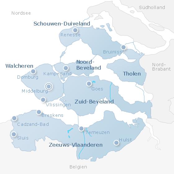 Karte Zeeland
