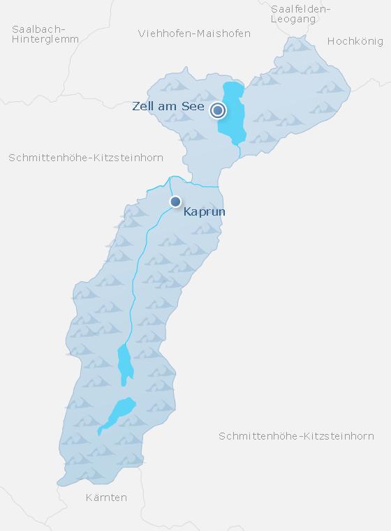 Karte Zell am See - Kaprun