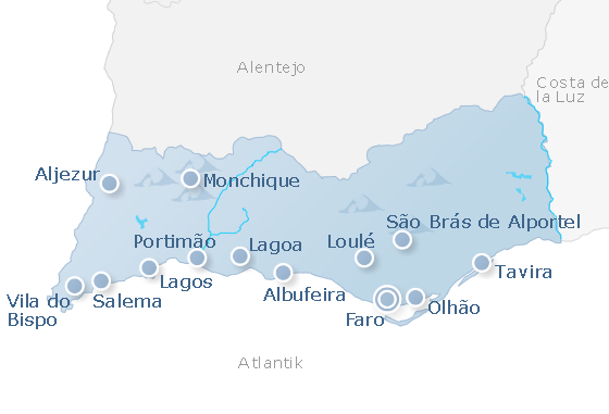 Map Algarve