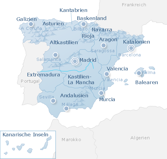Karte Spain