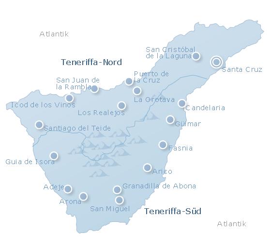 Map Tenerife