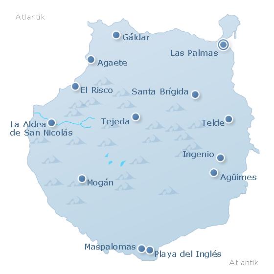 Karte Gran Canaria