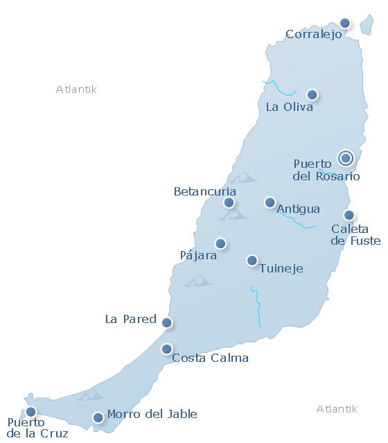 Map Fuerteventura