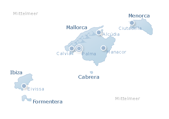 Map Balearic Islands