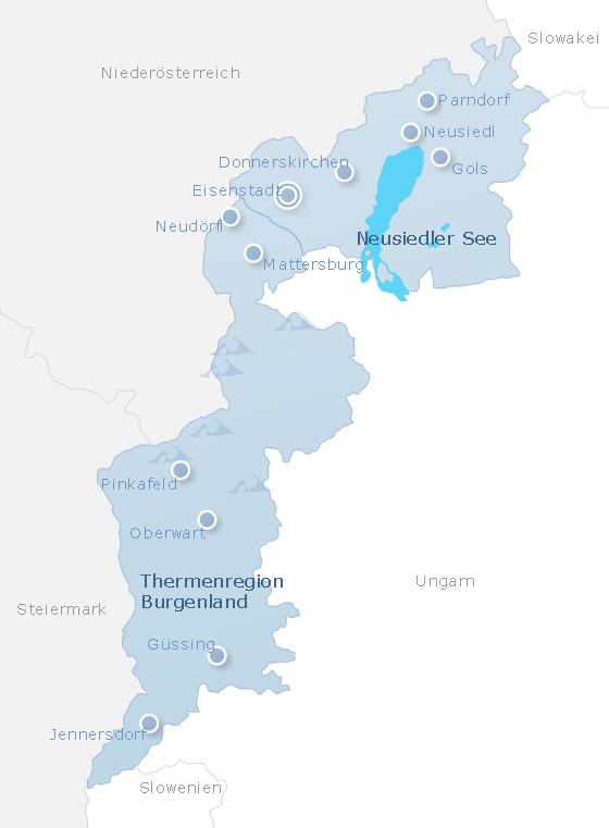 Karte Burgenland