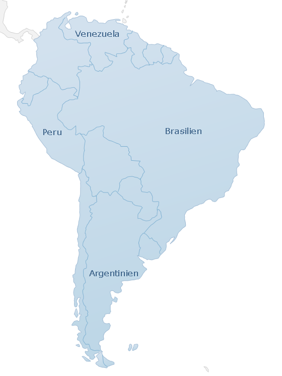 Map South America