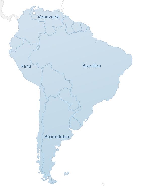 Karte South America