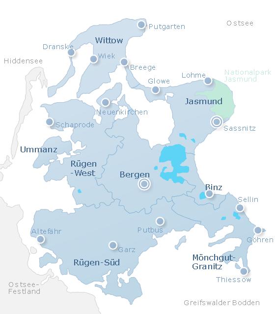 Map Rügen